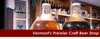 Growler fills of Vermont craft beer